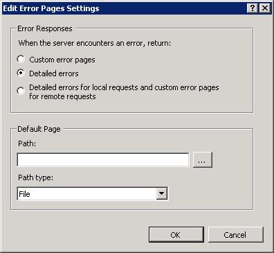 Iis Remote Errors